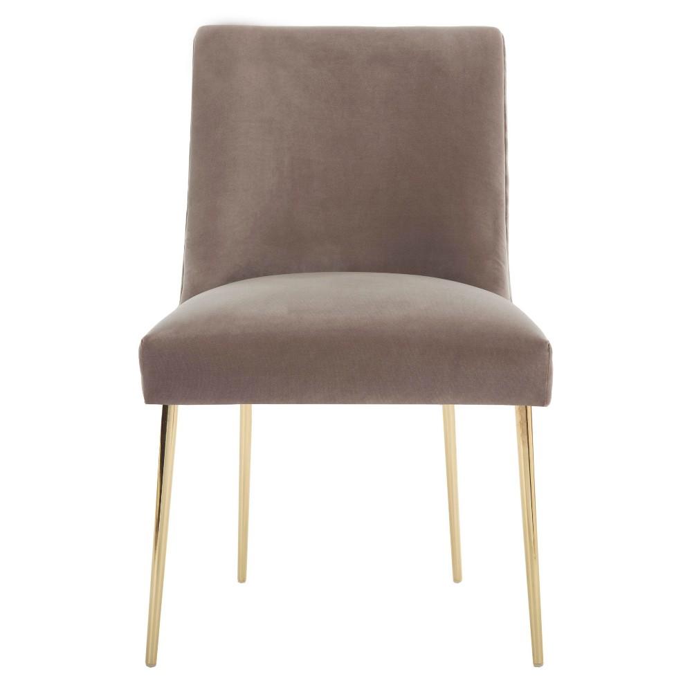 Nolita Velvet Accent Chair Gray - Safavieh