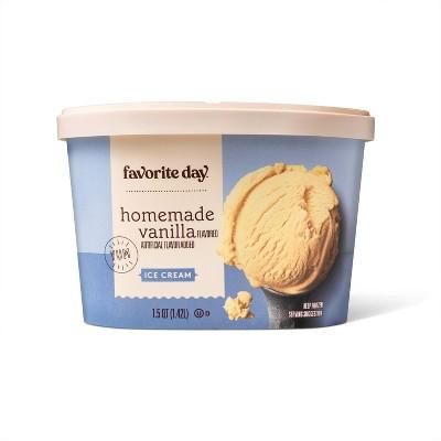 Homemade Vanilla Ice Cream - 48oz - Favorite Day™