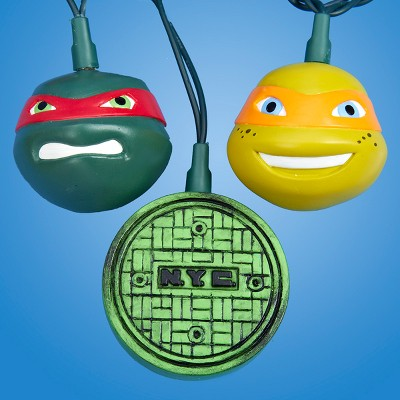Kurt S. Adler 10-Count Green Teenage Mutant Ninja Turtles Novelty Christmas Light Set, 10ft Green Wire