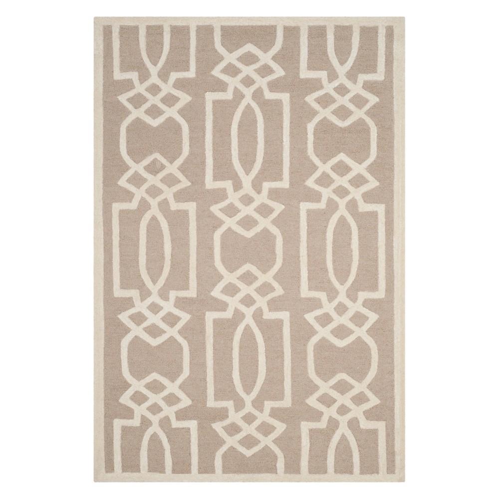 6'X9' Geometric Area Rug Sand/Ivory (Brown/Ivory) - Safavieh
