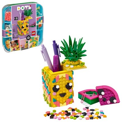 LEGO DOTS Pineapple Pencil Holder Cool DIY Craft Decorations Toy Kit 41906