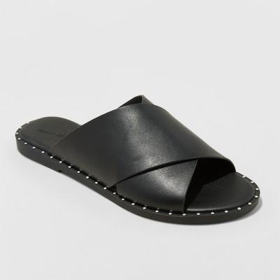 Womens Kyleigh Cross Band Slide Sandals - Universal Thread™ Black 6