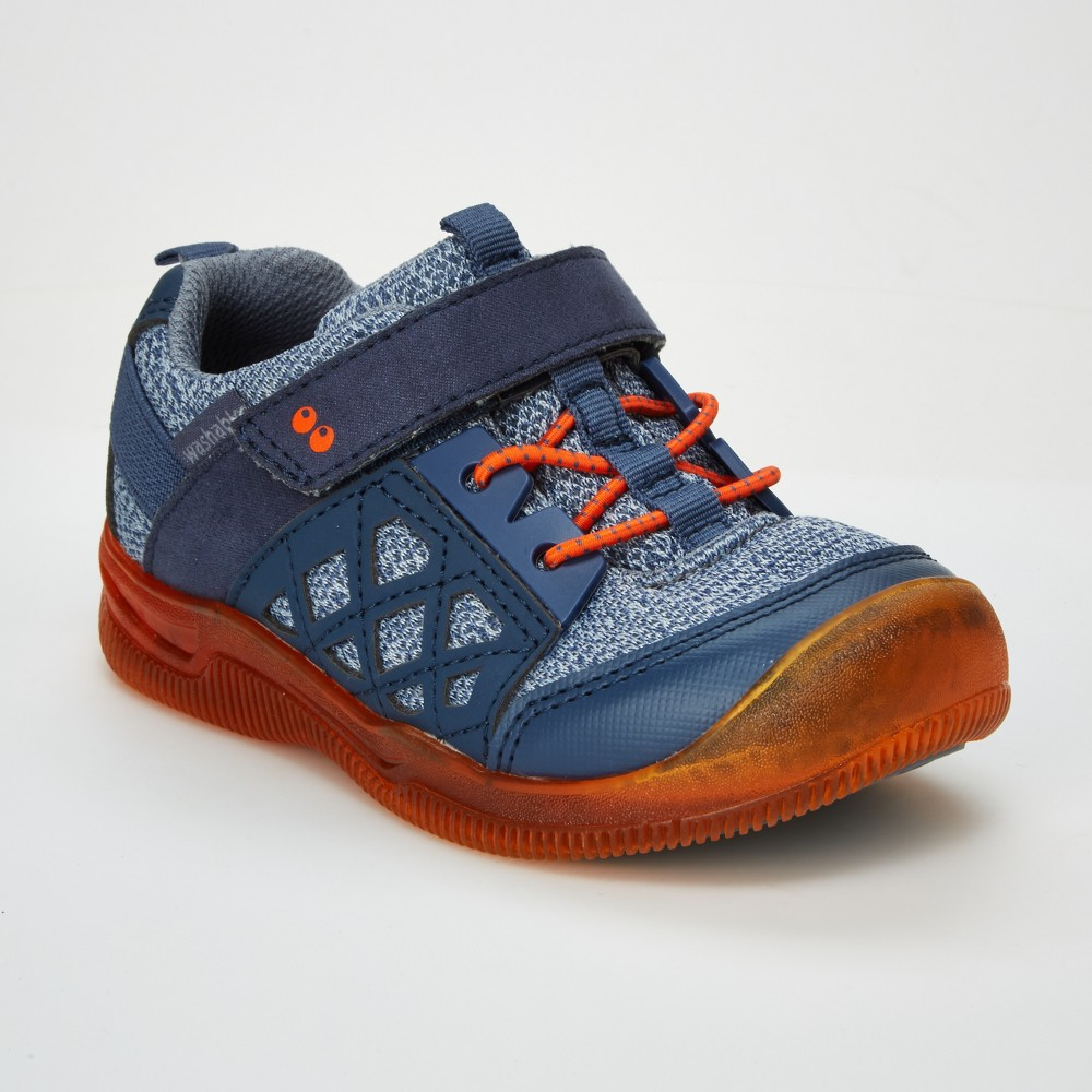 Toddler Boys' Surprize by Stride Rite Casey Light-Up Athletic Sneakers - Navy (Blue) 4