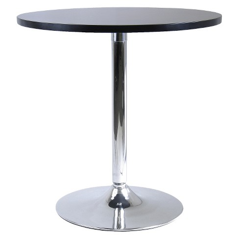 Spectrum Round Dining Table with Metal Base Wood/Black - Winsome - image 1 of 2
