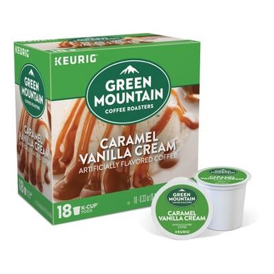 Green Mountain Coffee Caramel Vanilla Cream Flavored Medium Roast Coffee - Keurig K-Cup Pods - 18ct