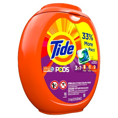 Tide Pods Spring Meadow Liquid Laundry Detergent Pacs - 96ct