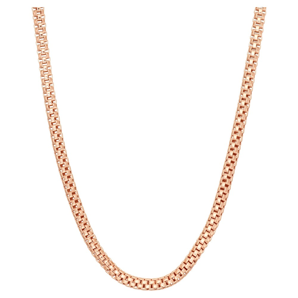 Tiara Rose Gold Over Silver 20 Popcorn Link Chain Necklace, Size: 20 inch, Pink