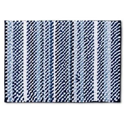 """24""""x40"""" Loop Memory Foam Accent Bath Rug Blue - Room Essentials™"""