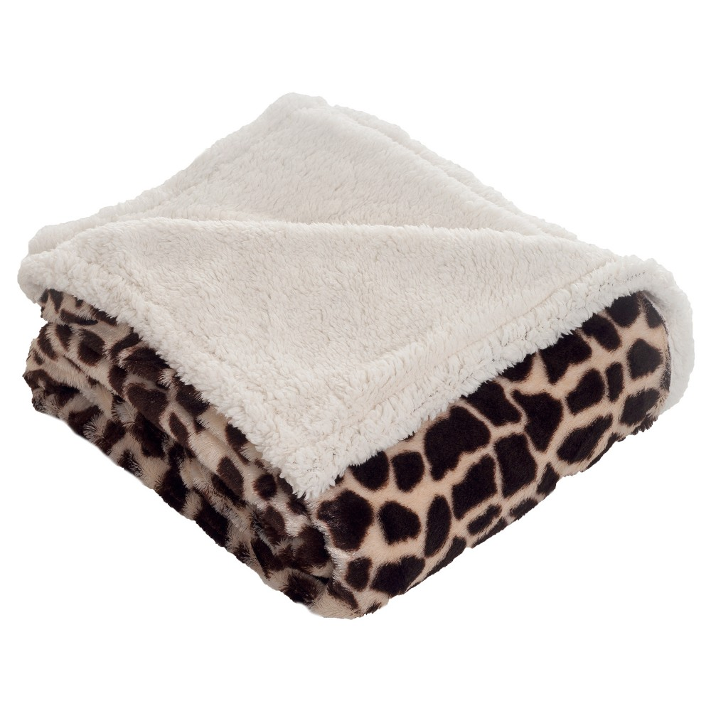 Brown/White Throw Blankets - Yorkshire Home