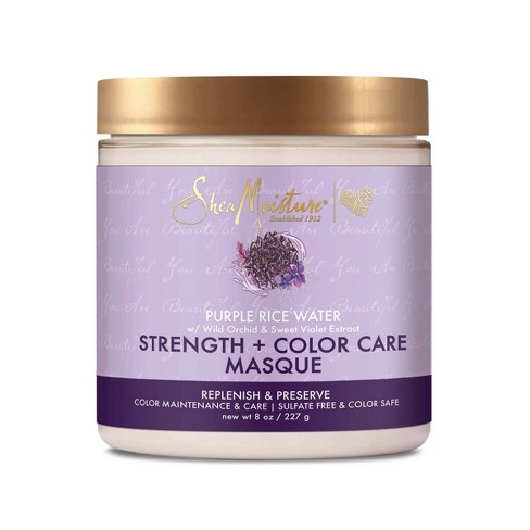 SheaMoisture Strength + Color Care Treatment Masque with Purple Rice Water - 8oz - image 1 of 4