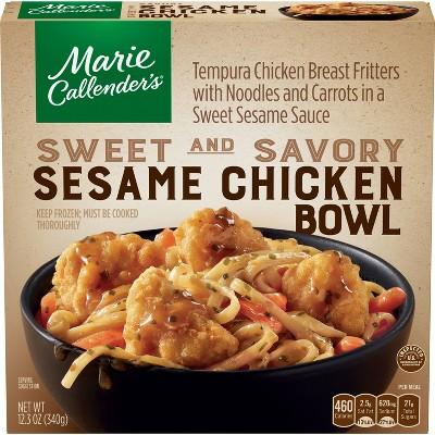 Marie Callender's Frozen Sesame Chicken Bowl - 12.3oz