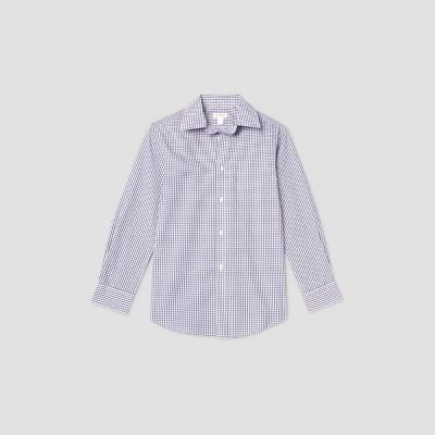 Boys' Long Sleeve Button-Down Shirt - Cat & Jack™ Navy/Red
