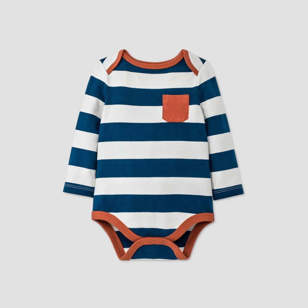 Reviews Baby Boys' Striped Long Sleeve Bodysuit - Cat & Jack™