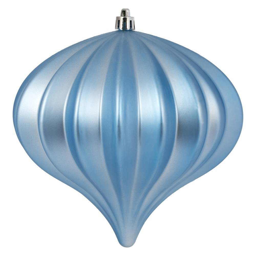 "Image of ""3ct Vickerman 5.7"""" Matte Onion Ornament, UV Coated Ornament Set Periwinkle"""
