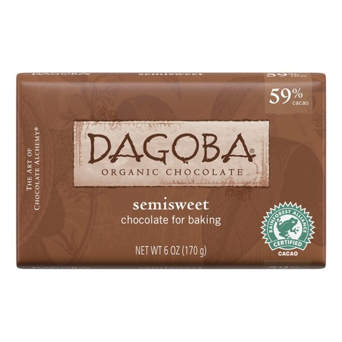Dagoba® Semisweet Organic Chocolate Baking Bars - 6oz - image 1 of 2