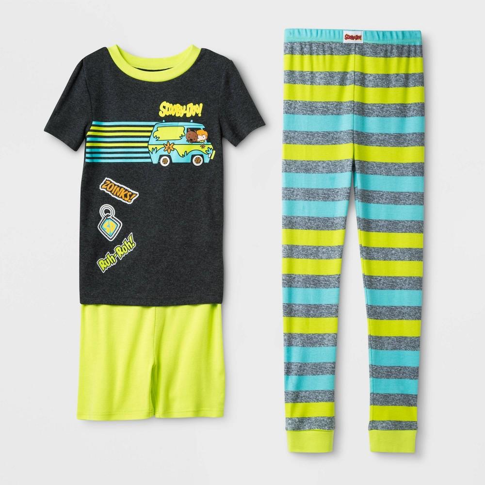 Image of Boys' Scooby-Doo 3pc Pajama Set - Gray/Green 10, Boy's