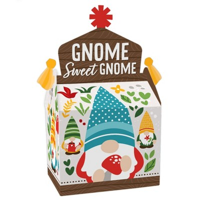 Big Dot of Happiness Garden Gnomes - Treat Box Party Favors - Forest Gnome Party Goodie Gable Boxes - Set of 12