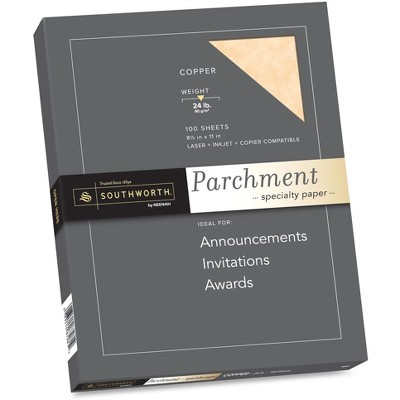 Avery Parchment Specialty Paper, Copper, 24lb, 8 1/2 x 11, 100 Sheets P894CK336