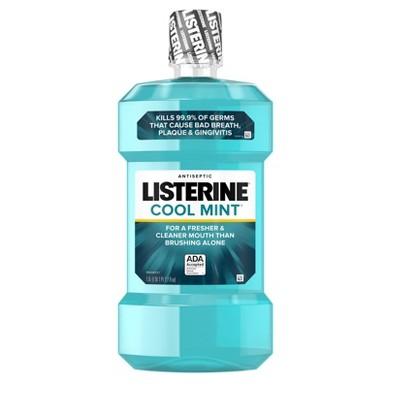 Listerine Cool Mint Antiseptic Mouthwash Oral Care And Breath Freshener - 50.7 fl oz