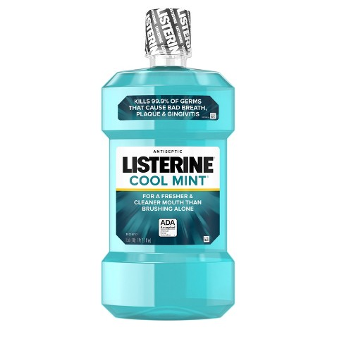 Listerine Cool Mint Antiseptic Mouthwash Oral Care And Breath Freshener - 1.5L - image 1 of 8