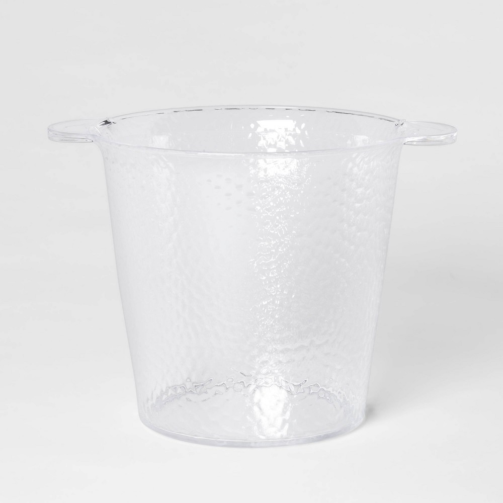 Image of 176oz Plastic Textured Ice Bucket - Threshold , Clear