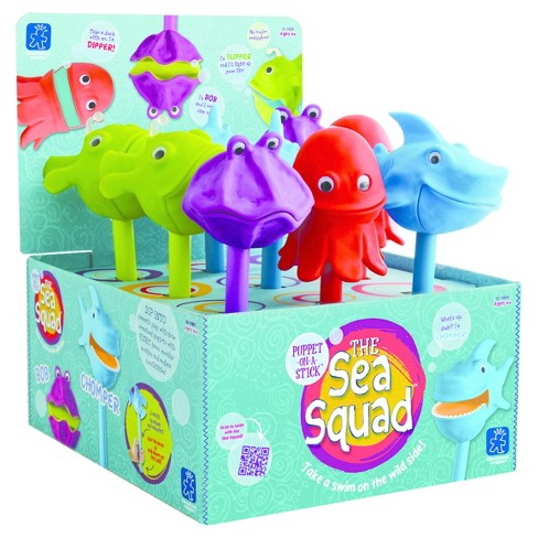 Educational Insights The Sea Squad Puppet-on-a-Stick, Display of 9 - image 1 of 2