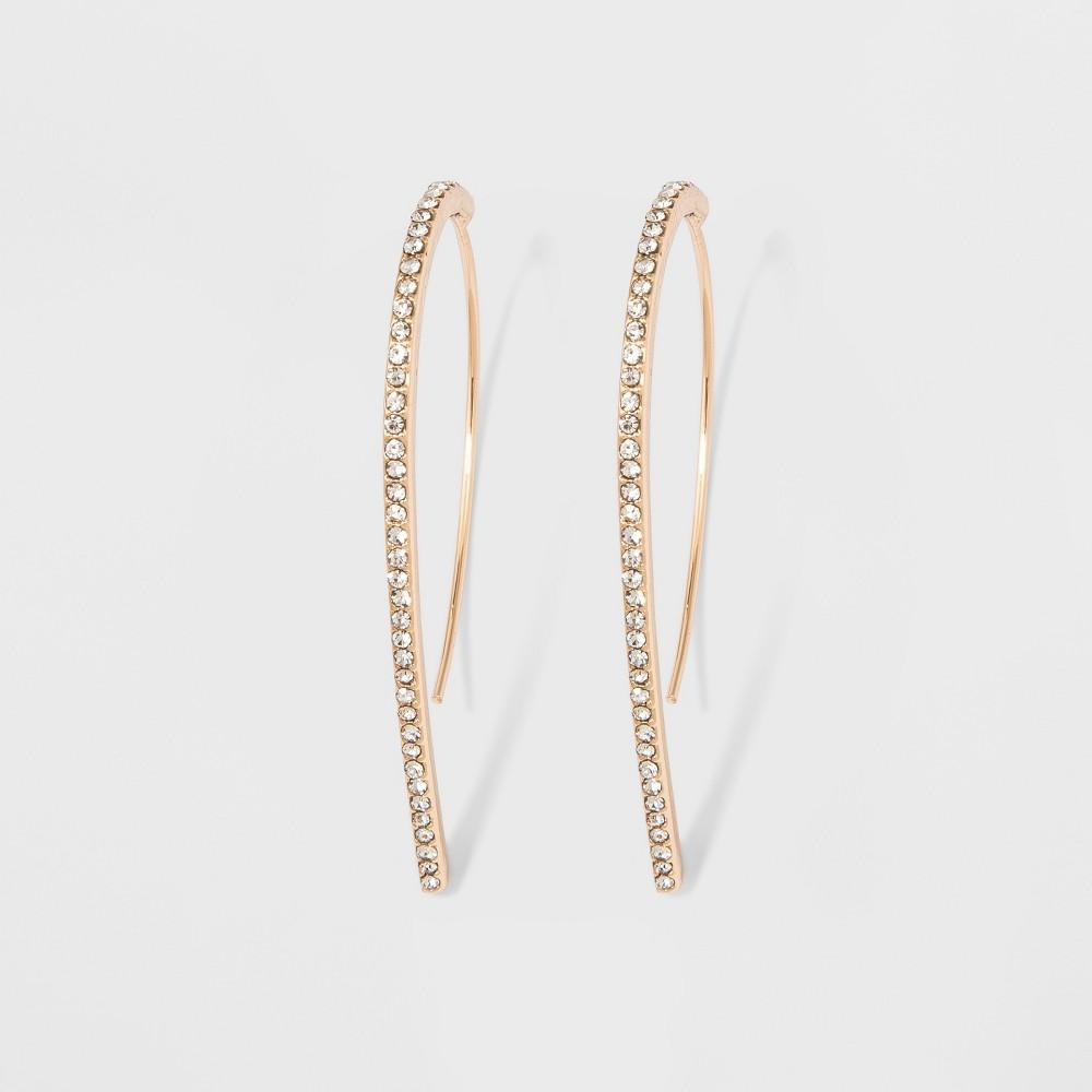 Sugarfix by BaubleBar Minimal Threaded Drop Earrings - Gold, Girl's