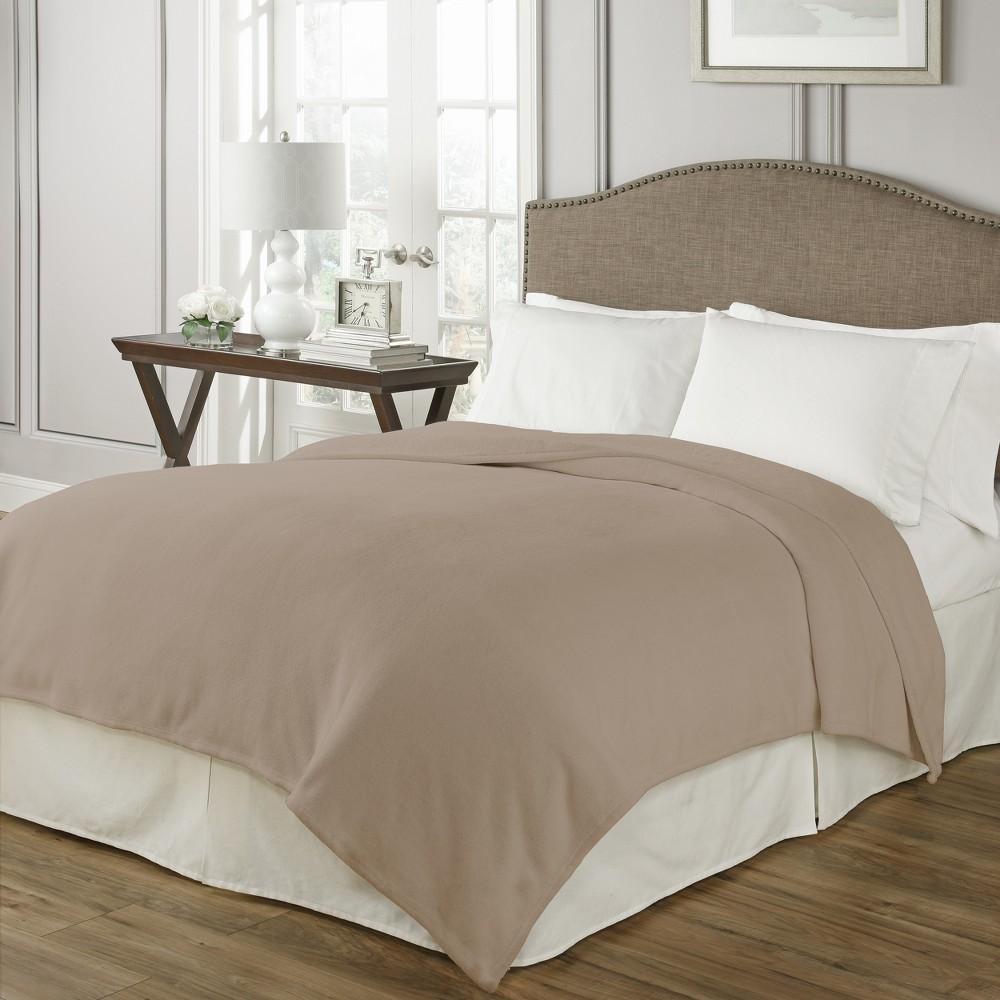 Bordeaux Warming Blanket (Twin) Light Brown - Beautyrest