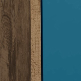 Rustic Brown/Aqua Blue