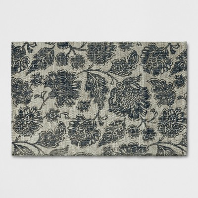 Radiant Gray Floral Woven Accent Rug 2'6 X4'/30 X48  - Threshold™