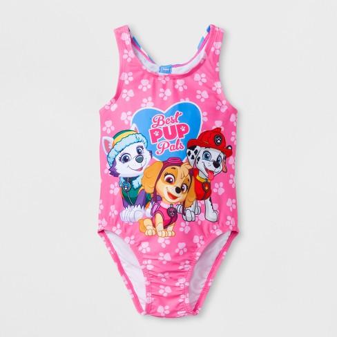 3fa5078caee8f Toddler Girls  PAW Patrol One Piece Swimsuit - Pink   Target