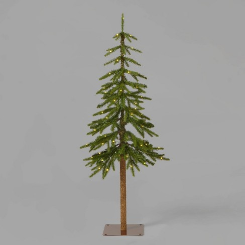 4ft Pre-Lit Downswept Alpine Balsam Artificial Christmas Tree Warm White Dew Drop LED Lights - Wondershop™ - image 1 of 2