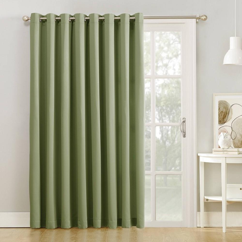 "Image of ""84""""x100"""" Seymour Extra Wide Room Darkening Sliding Patio Door Curtain Panel Green - Sun Zero"""
