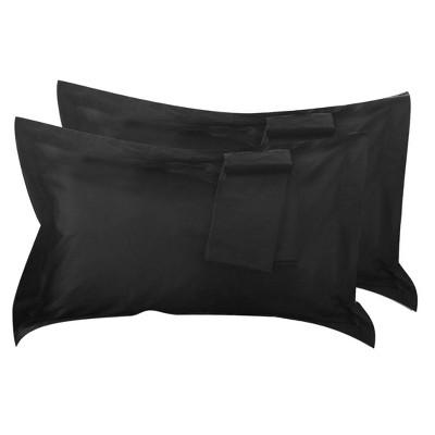 2 Pcs Queen Egyptian Cotton Pillowcase Black - PiccoCasa