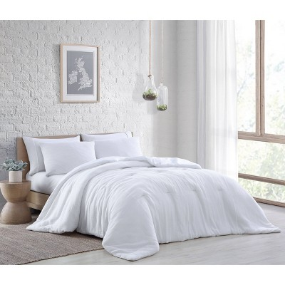 Queen 3pc Annika Cotton Gauze Comforter Set White - Geneva Home Fashion