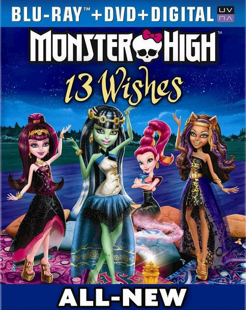 Monster High: 13 Wishes [2 Discs] [Includes Digital Copy] [UltraViolet] [Blu-ray/DVD] - image 1 of 1