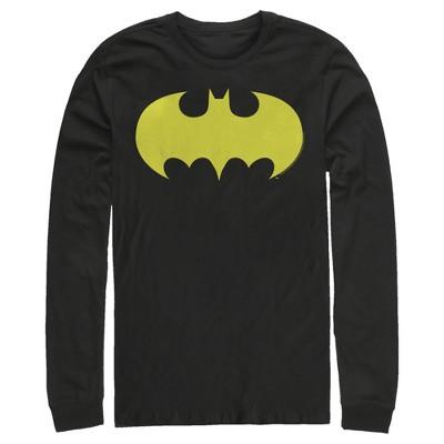 Men's Batman Logo Classic Wing Long Sleeve Shirt