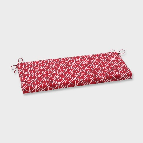 Lanova Apple Outdoor Bench Cushion Red - Pillow Perfect - image 1 of 1