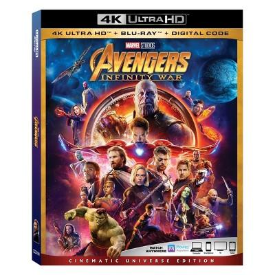 Marvel Avengers: Infinity War (4K/UHD + Blu-ray + Digital)
