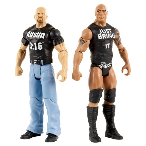 WWE Tough Talkers Stone Cold Steve Austin and the Rock Figure 2-Pack - image 1 of 4