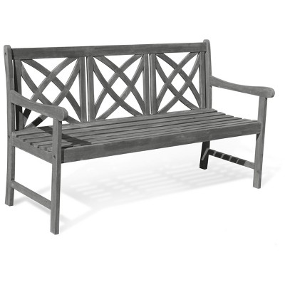 Vifah Renaissance Eco-friendly 5' Outdoor Hand-scraped Hardwood Garden Bench