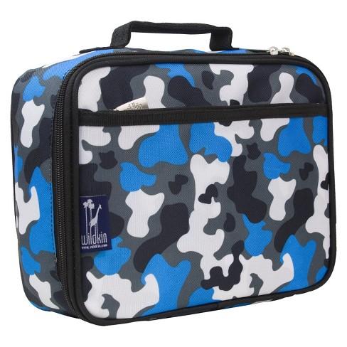 wildkin camouflage lunch box blue target