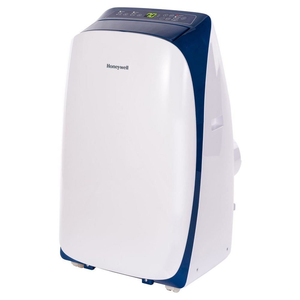 Honeywell - 12000-BTU HL Series Portable Air Conditioner with Remote Control - White/Blue, Adult Unisex, White Blue
