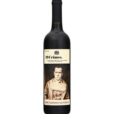 19 Crimes Cabernet Sauvignon Red Wine - 750ml Bottle