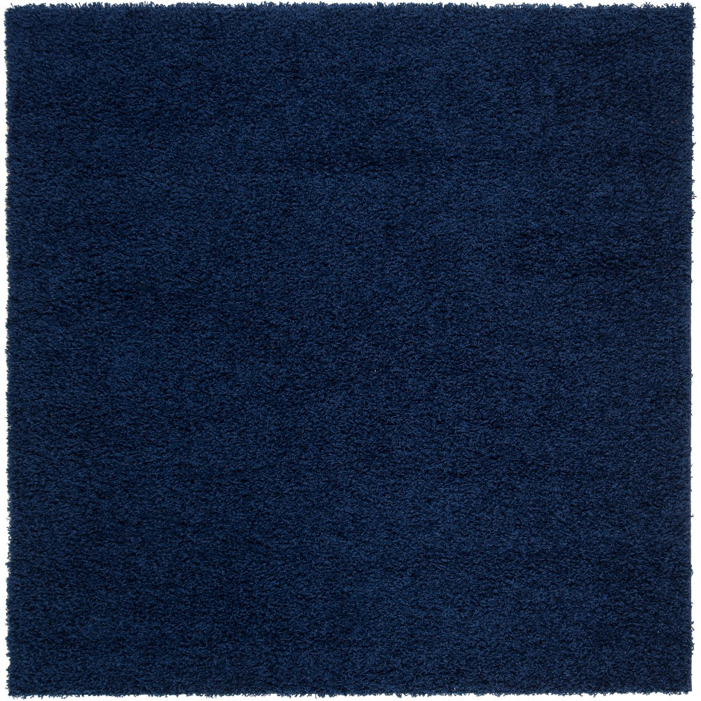 6 39 7 34 X6 39 7 34 Reedley Solid Loomed Square Area Rug Navy Safavieh