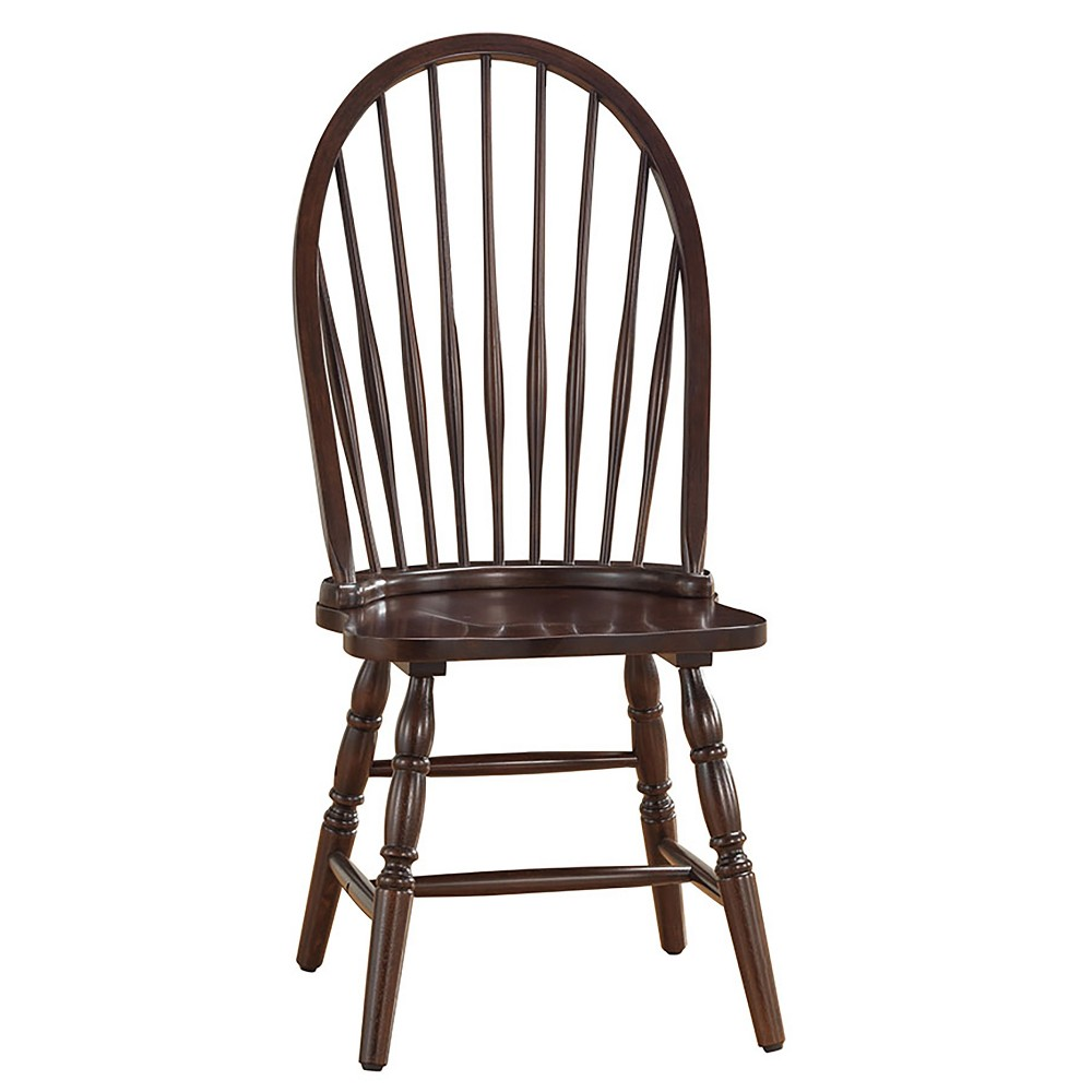Image of Garner Windsor Chair Espresso Brown - Carolina Chair and Table