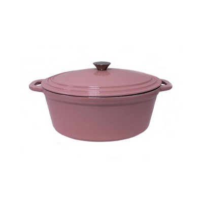 BergHOFF Neo Cast Iron Oval Covered Casserole Dish 5 Qt Pink