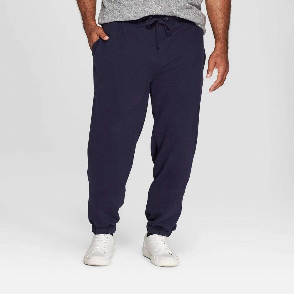 Men's Big & Tall Fleece Cinched Jogger Pants - Goodfellow & Co Xavier Navy 3XB