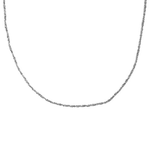 "Women's Diamond Cut Crystal like Chain Necklace in Sterling Silver (24"") - image 1 of 1"