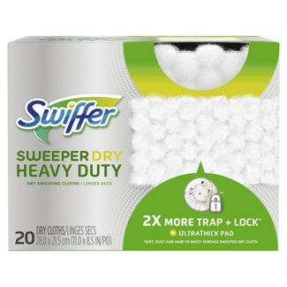 Swiffer Sweeper Heavy Duty Multi-Surface Dry Cloth Refills for Floor Sweeping and Cleaning - 20ct